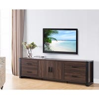 Sleek Transitional Wide TV Stand, Brown