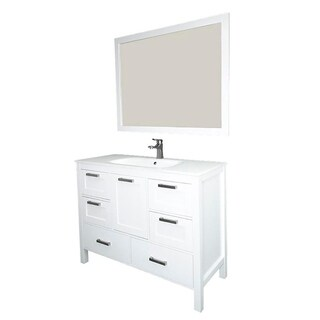 Siena Wood/Glass 48-inch 1-sink Vanity With Drawers