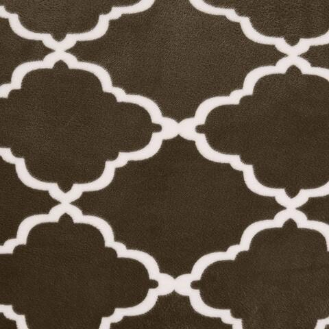 Great Bay Home Printed Velvet Plush Form Fit Sofa Slipcover