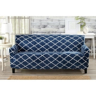 sofa covers. printed velvet plush form fit sofa slipcover by great bay home covers