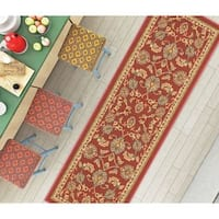 """Well Woven Traditional Sarouk Non-Skid Backing Rug - 1'8"""" x 5'"""