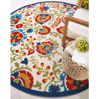 Havenside Home Wrightsville Indoor/ Outdoor Area Rug - 7'10 Round