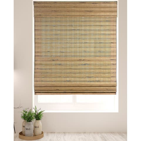 Arlo Blinds Tuscan Cordless Lift Bamboo Roman Shades with 60 Inch Height