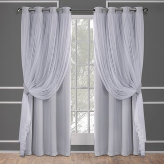 ATI Home Catarina Layered Curtain Panel Pair with Grommet Top (More options available)