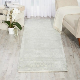 kathy ireland for Nourison Desert Skies Flint Rayon from Bamboo Contemporary Runner Rug - 2'3 x 8'