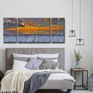 Ready2HangArt 'On the Horizon' Oversized 3PC Canvas Wall Decor Set - Multi-color