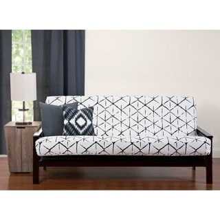Well Rounded Black Grey White 6 Inch Full Size Futon Cover