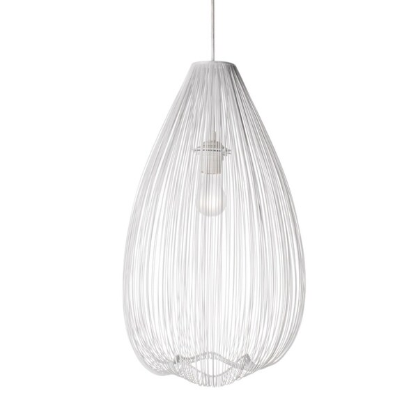 Lumenno Modern 1-light White Pendant