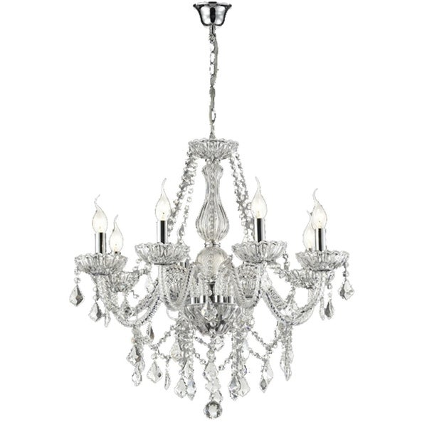 Lumenno Traditional Chrome Metal 12-light Chandelier