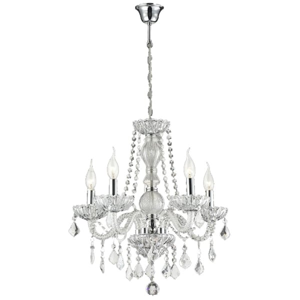Lumenno Traditional 8-light Chrome Chandelier