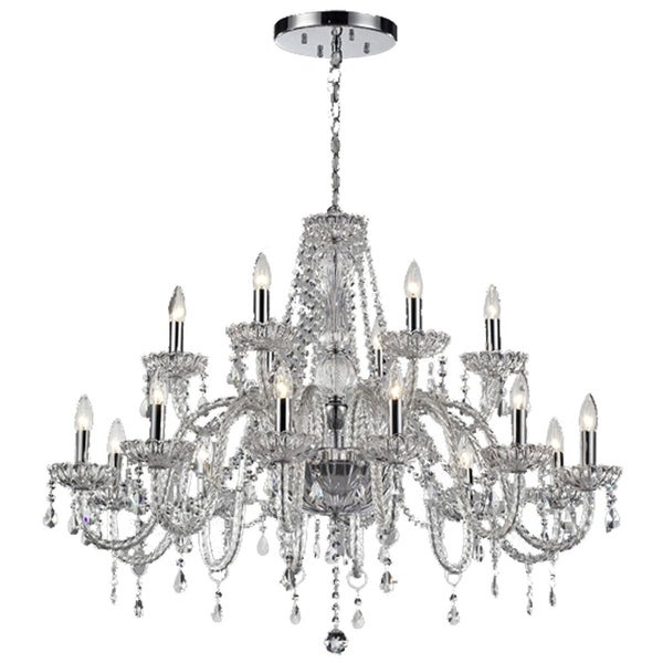 Lumenno Traditional 18-light Chrome Chandelier