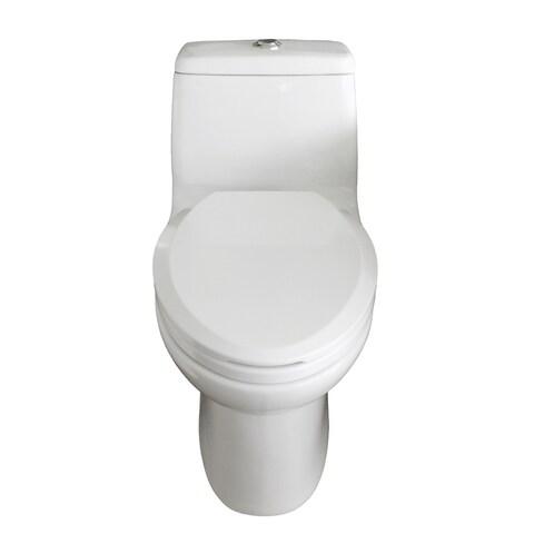 Eviva Hurricane Elongated White Toilet