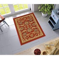 """Well Woven Traditional Sarouk Non-Skid Backing Area Rug - 3'3"""" x 4'7"""""""