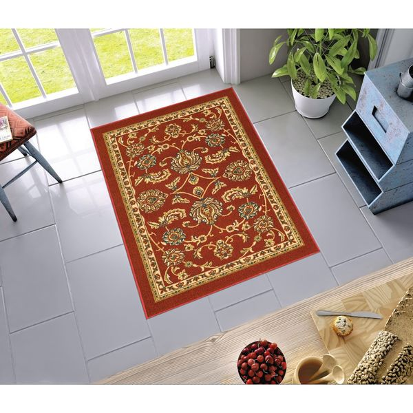 Shop Well Woven Traditional Sarouk Non Skid Backing Area Rug 3 3