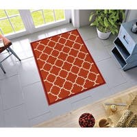 "Well Woven Modern Bold Lattice Non-Skid Backing Rug - 3'3"" x 4'7"""