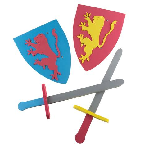 """Foam Sword and Shield for Kids by Hey! Play! - 13"""" Shield"""