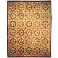 Chantal Ivory/ Multi Wool Hand-knotted Area Rug - 6' x 9'