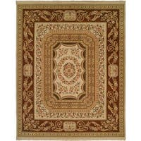 Florence Ivory/ Brown Soumak Area Rug (6' x 9')