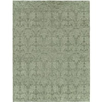 Gramercy Cyprus Teal Wool and Viscose Hand-knotted Modern Rug (6' x 9') - 6' x 9'