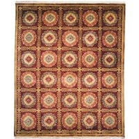 Chantal Plum Wool Hand-knotted Area Rug (8' x 10') - 8' x 10'