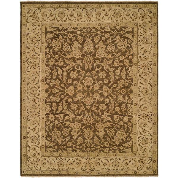 Allegro Hazel Ivory Hand-Knotted Wool Area Rug (8' x 10') - 8' x 10'