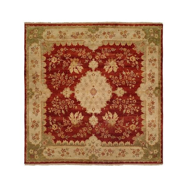 Carol Bolton Rose Red Chenille Hand-knotted Wool/Cotton Area Rug (8' x 10') - 8' x 10'
