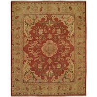 Carol Bolton Rust Red Hand-knotted Wool Area Rug (8' x 10')