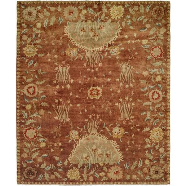 Carol Bolton Rodewood/Reverie Red Hand-knotted Wool Area Rug (8' x 10') - 8' x 10'