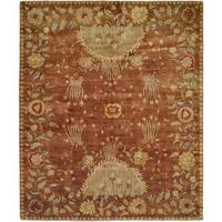 Carol Bolton Rodewood/Reverie Red Hand-knotted Wool Area Rug (8' x 10')