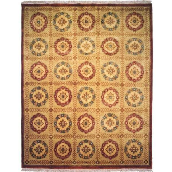Chantal Ivory Wool Hand-knotted Area Rug (8' x 10')