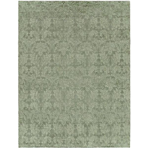 Gramercy Cyprus Teal Hand-knotted Wool Area Rug (8' x 10')