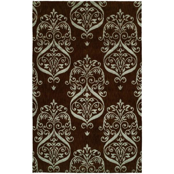 Gramercy Chocolate Brown Viscose and Wool Hand-knotted Area Rug (8' x 10') - 8' x 10'
