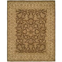 Allegro Hazel Ivory Wool Hand-knotted Distressed Area Rug (9' x 12') - 9' x 12'