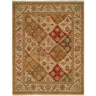 Allegro Red/Multicolored Wool Hand-knotted Area Rug - 9' x 12'