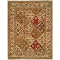Allegro Red/Multicolored Wool Hand-knotted Area Rug - multi - 9' x 12'