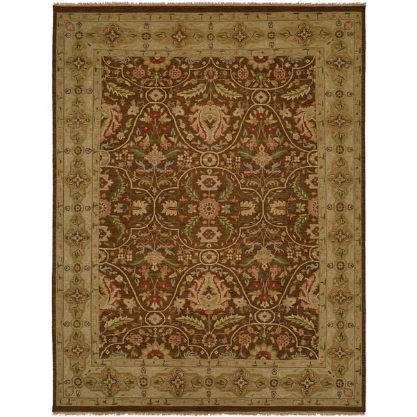 Carol Bolton Fall Sienna Soumak Brown Wool Area Rug - 9' x 12'