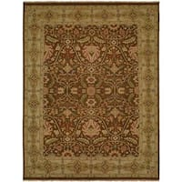 Carol Bolton Fall Sienna Soumak Brown Wool Area Rug - 9' x 12'