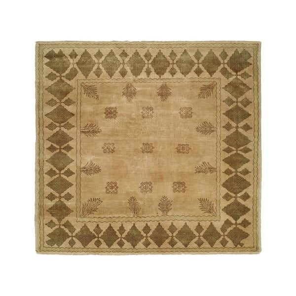 Carol Bolton Taos Lichen Ivory Hand-knotted Wool Area Rug (9' x 12')