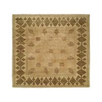 Carol Bolton Taos Lichen Ivory Hand-knotted Wool Area Rug (9' x 12') - 9' x 12'