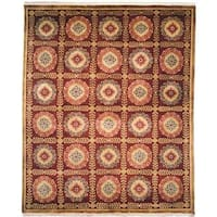 Chantal Plum Wool Hand-knotted Area Rug (9' x 12') - 9' x 12'