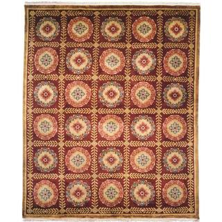 Chantal Plum Wool Hand-knotted Area Rug (9' x 12')
