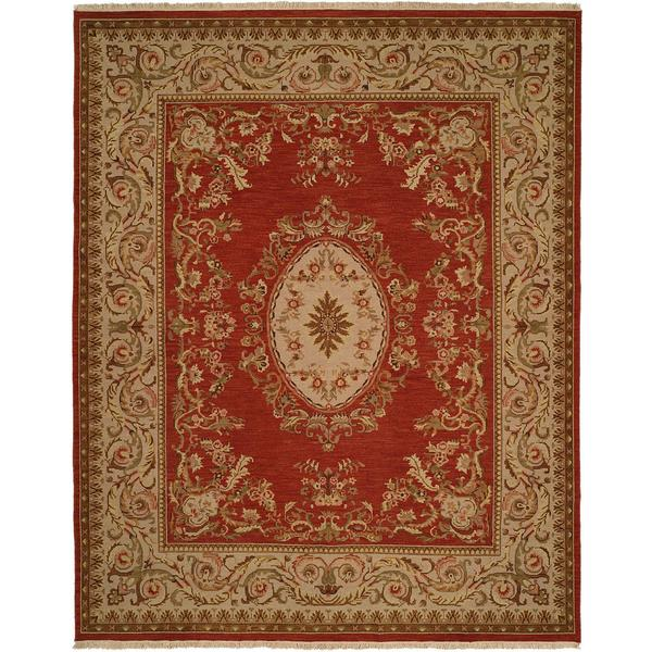 Florence Soumak Rust Wool/Cotton Indoor Area Rug - 9' x 12'