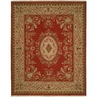 Florence Soumak Rust Wool/Cotton Indoor Area Rug - 9' x 12'