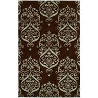 Gramercy Chocolate Wool Hand-knotted Area Rug - 9' x 12'