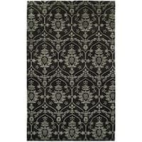 Gramercy Hand-knotted Black Wool/Viscose/Silkette Indoor Rectangular Area Rug (9' x 12') - 9' x 12'