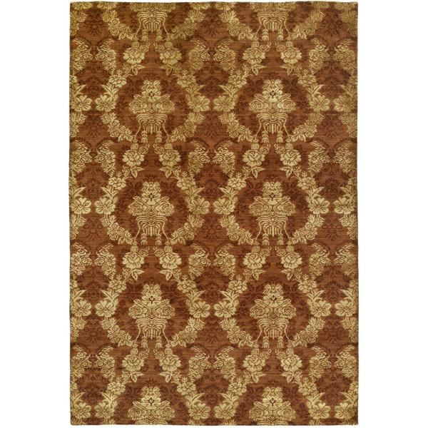 Gramercy Autumn Spice Rust Hand-knotted Wool Area Rug (9' x 12')