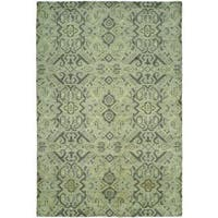 Gramercy Baltic Teal Wool and Viscose Hand-knotted Area Rug (9' x 12') - 9' x 12'