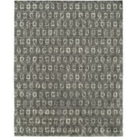 Gramercy Grey/Granite Wool Hand-knotted Area Rug - 9' x 12'