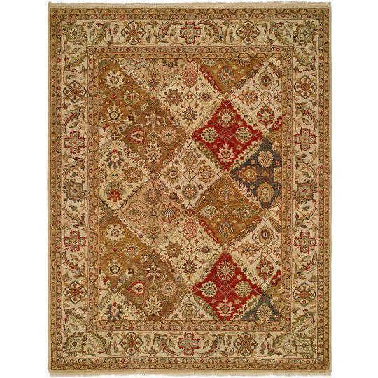 Allegro Multicolored Wool Hand-knotted Floral Area Rug (10' x 14')