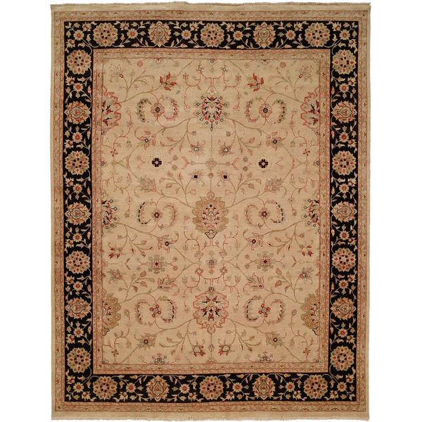 Bashir Rust/Ivory Hand-knotted Wool Area Rug (10' x 14')
